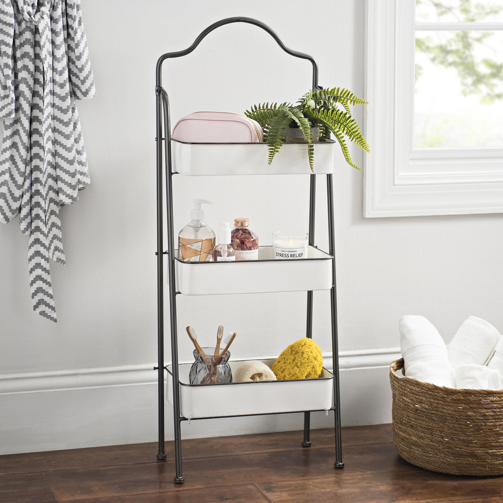 Kirkland's - Three-Tier White and Black Decorative Stand