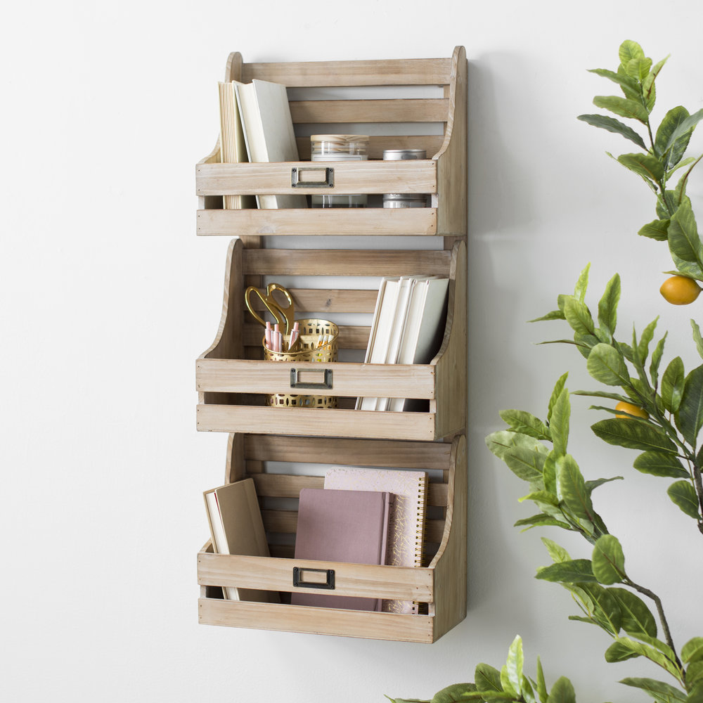 Kirkland's - Triple Slatted Wall Basket