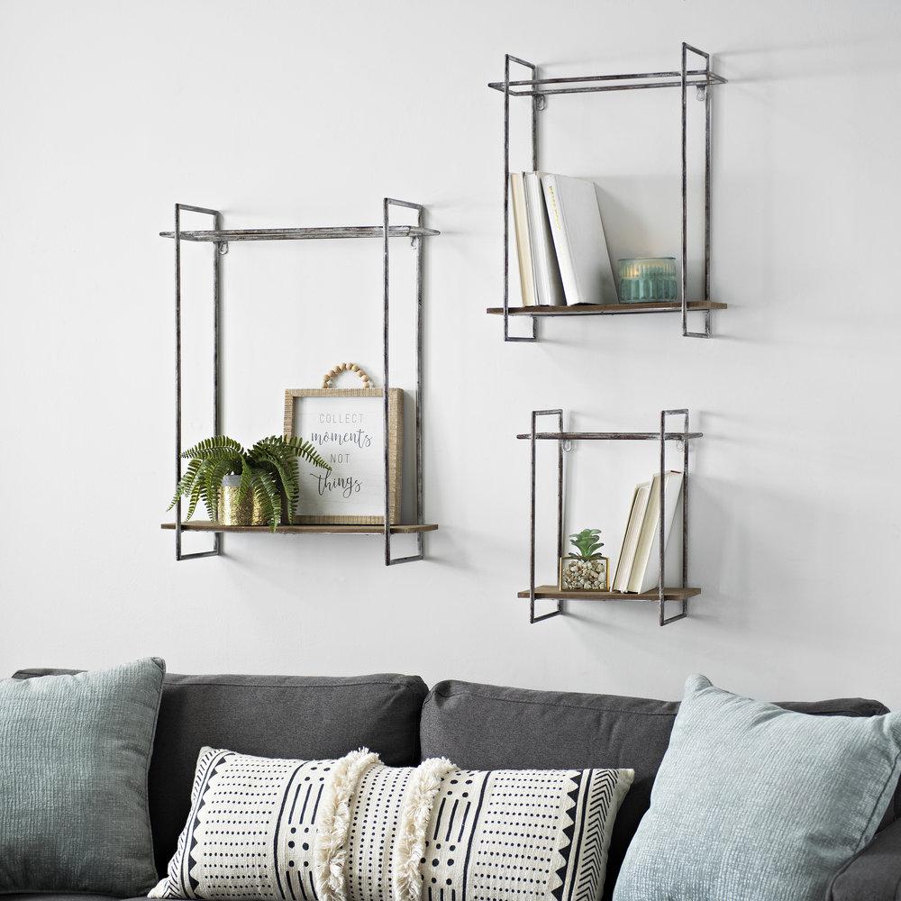 Kirkland's - Metal Cube Wall Shelves, Set of 3