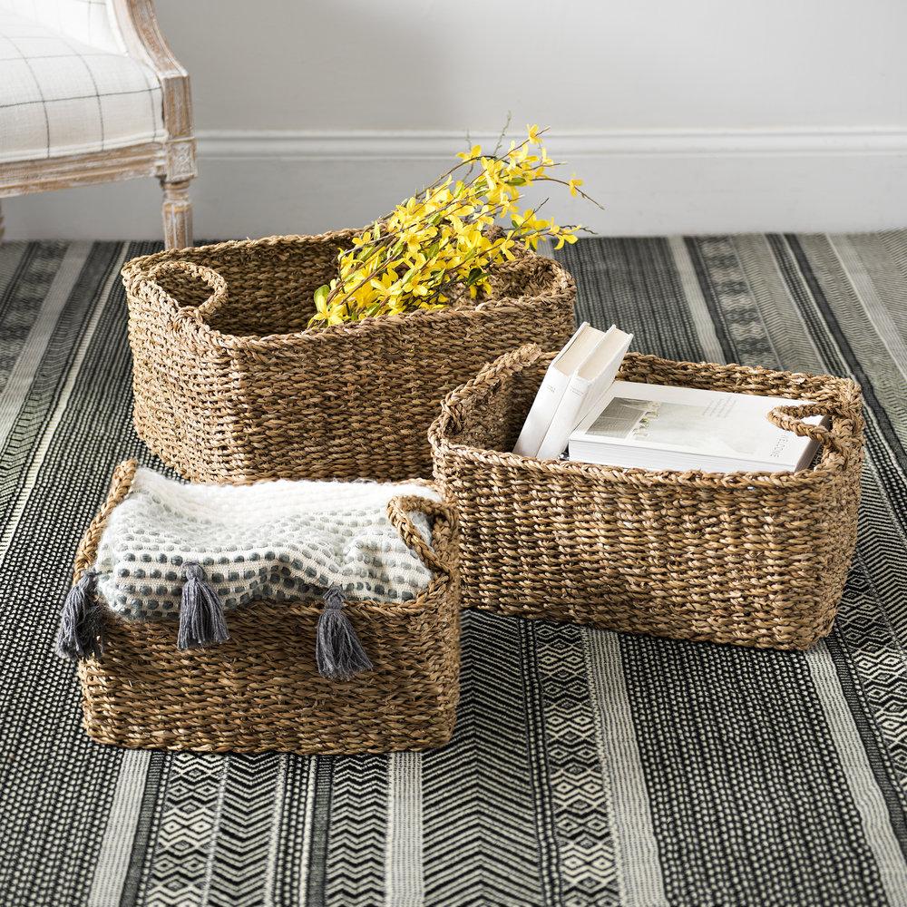 Kirkland's - Woven Seagrass Baskets