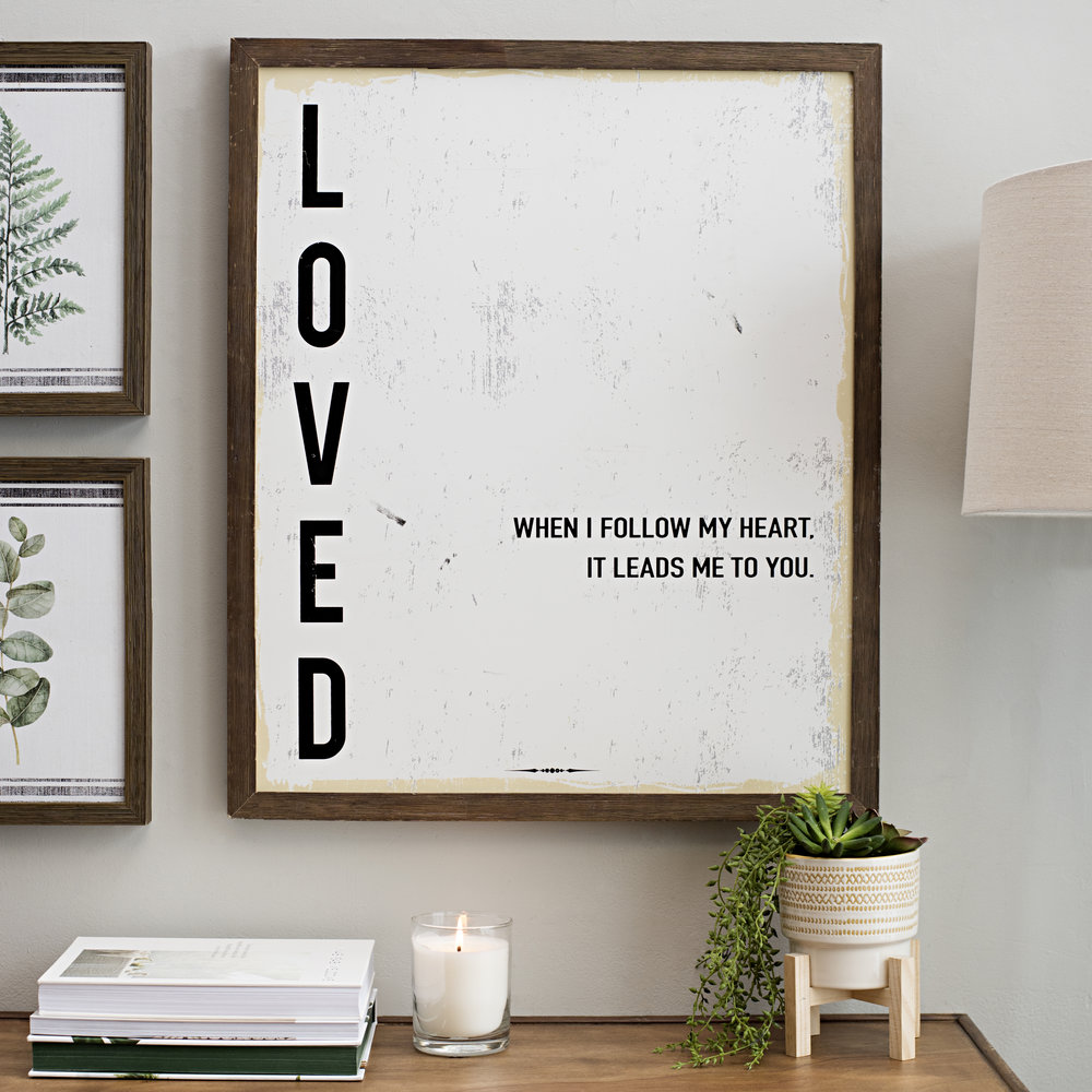 Kirkland's -  Loved Framed Wall Plaque