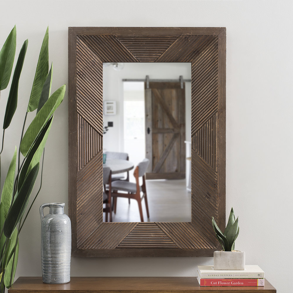 Kirkland's - Coco Embossed Wood Wall Mirror, 26.5x38.5 in.