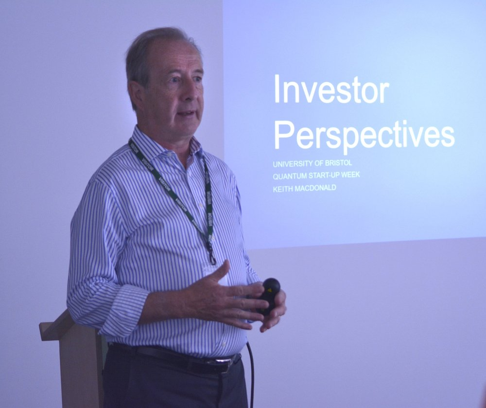 Keith MacDonald, Chairman of Unit DX, and an investor in science start-ups sharing his insights.
