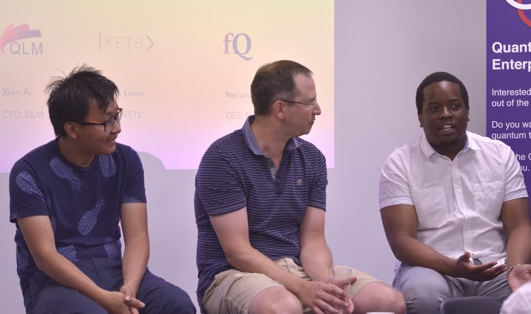 A panel discussion with the founders of three start-ups currently operating out of Unit DX .