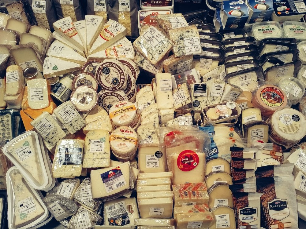 Local Grocery Cheese Selections