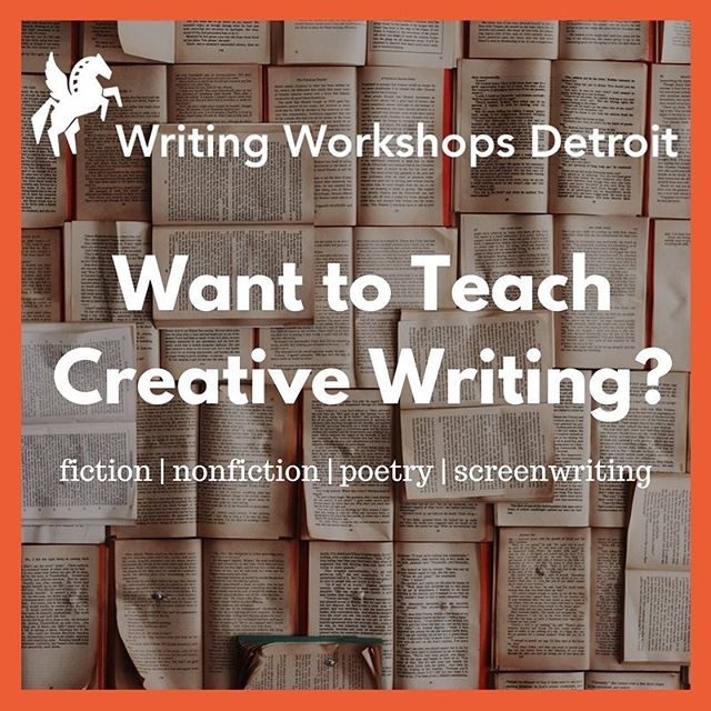 Writing Workshops Detroit is looking for a few creative writing instructors to teach classes this fall. We're excited to have Desiree Cooper, Amy Haimerl, Rola Nashef, Katie Chase, Aaron Burch, and Elizabeth Ellen as Instructors. If you have experience teaching fiction, poetry, nonfiction, or screenwriting, we'd love to hear from you. Our classes will meet at Bamboo Detroit. More info about teaching on our blog: https://www.writingworkshopsdetroit.com/blog/  #literarydetroit #writingworkshopsdetroit #creativewriting
