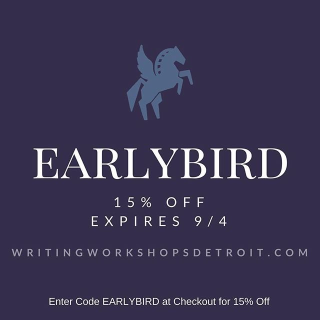Our October classes are now enrolling. Take advantage of our EARLYBIRD discount now through September 4th! Good for all seminars and classes! Link in bio. #literarydetroit #writingworkshopsdetroit #creativewriting