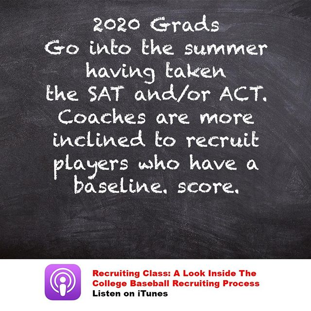 "You're not a ""complete"" recruit until coaches have ALL of your metrics. This includes test scores."