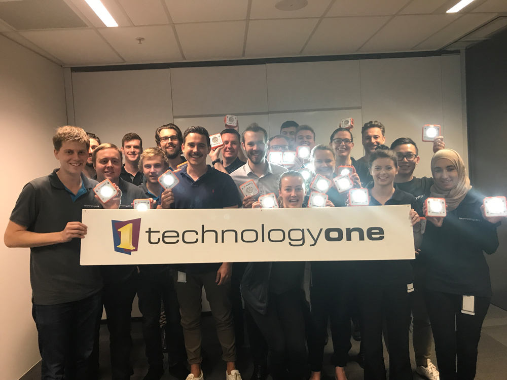 The Technology One team in Brisbane took part in a CSR event and built and donated SolarBuddy lights.