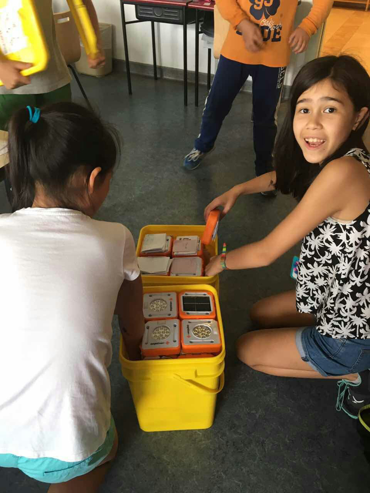 Students in Thailand have received their SolarBuddy lights ready to assemble and donate.