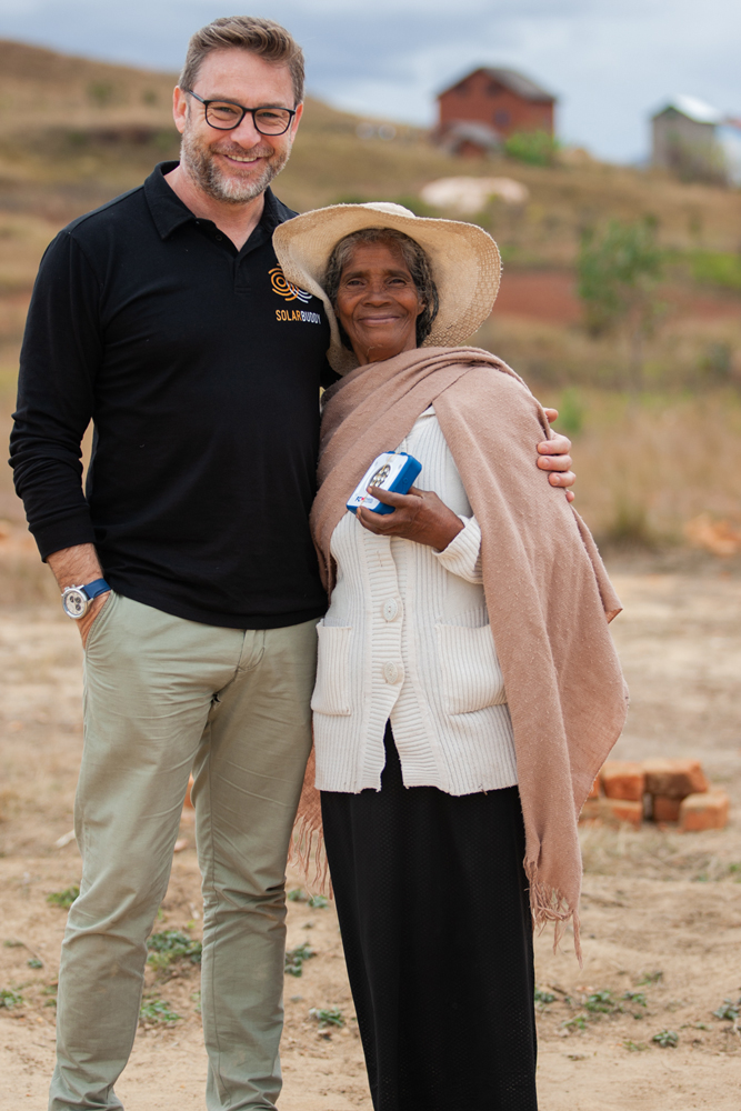 CEO Simon Doble meeting some incredible people in Madagascar.