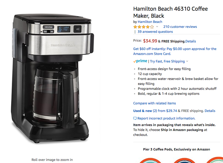 Im Addicted To Reading Amazon Customer Reviews On Coffee Makers