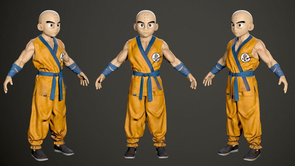 3D Character design - Krillin 04.jpg