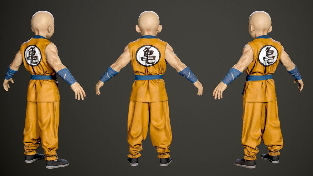 3D Character design - Krillin 03.jpg