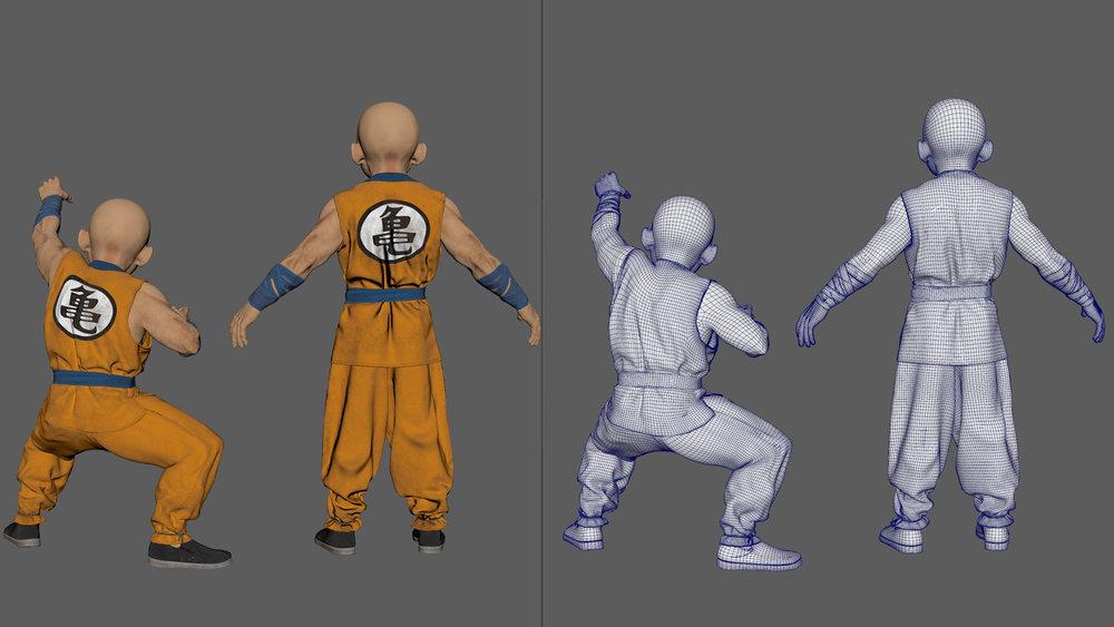 3D Character design - Krillin 08.jpg