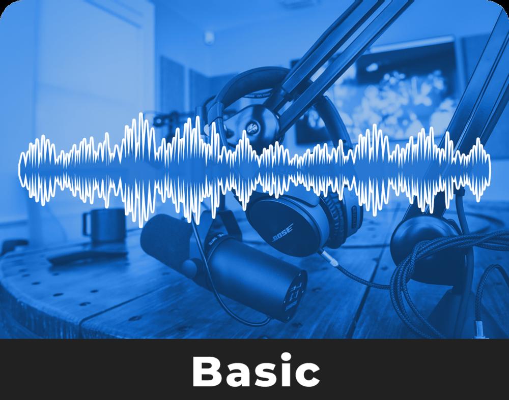 $150 / Per Episode - 1 Hour of Studio TimeRaw Audio FilesIn-Studio Audio EngineerIntro/Outro Editing