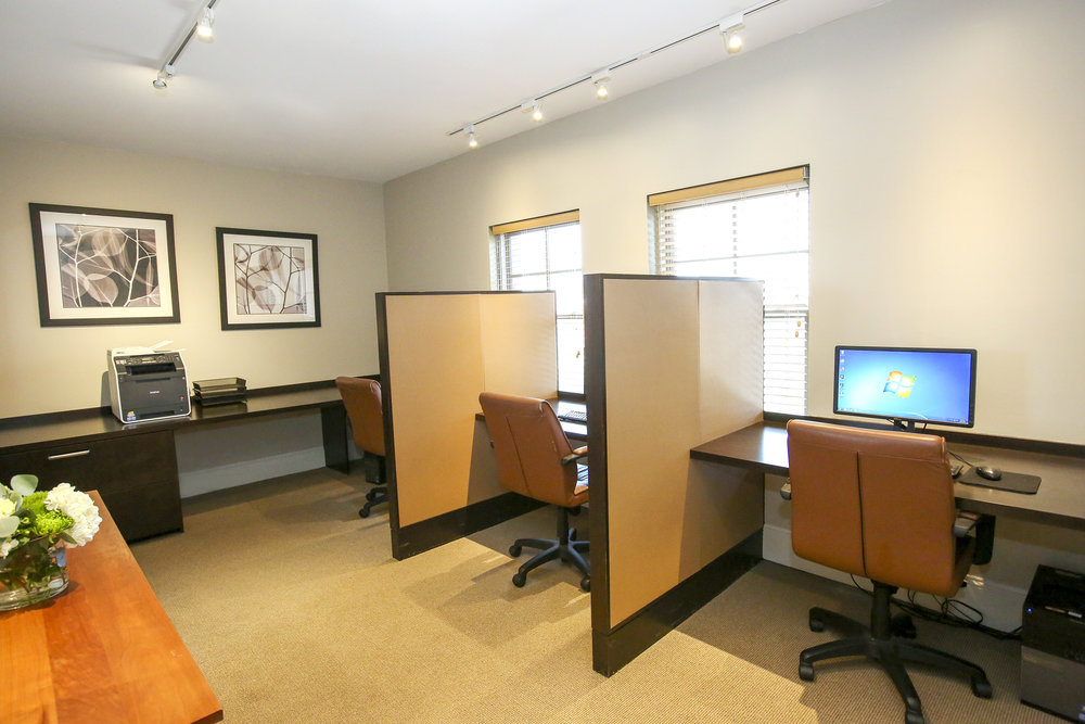 Business center with computer access
