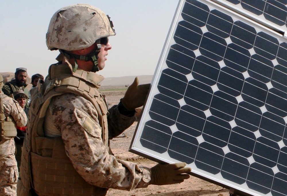 Image courtesy of Solar Energy Industries Association and United States Marine Corp.