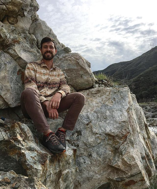 It's an Adam in his natural habitat! Rock hunting in the mountains. 🏔⛏#geology 📷@aaf815