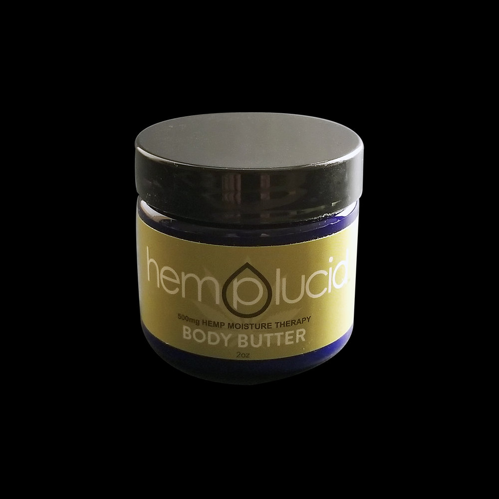 HEMPLUCID  – Hemp Body Butter, 2oz Hemp: 500mg