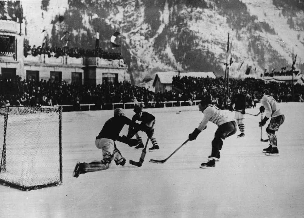 Hockey during the  First  Winter Olympic Games in  1924