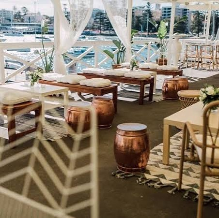 We are absolutely in love with this venue @manlyyachtclub and super proud to list it as one our premium venues to host events at. The team is fantastic to work with and it's such a great space. The view always impresses. Check out the link in our bio for a video we are featured in created by @rosephotosau and the incredibly talented @cloud9events . Amy seriously has the goods when it comes to styling, the video says it all.