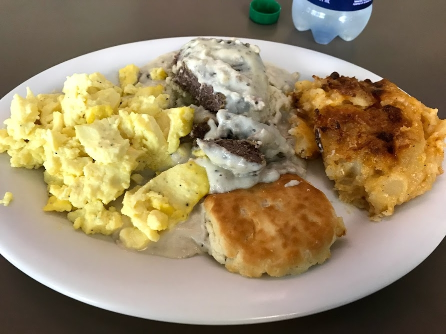 Chicken Fried Steak Platter with a side of potatoes