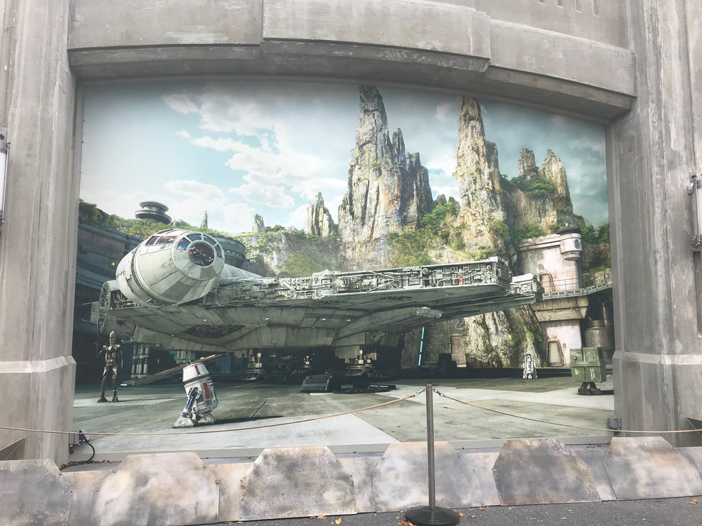 Massive walls currently guard the future entrance to Galaxy's Edge at Hollywood Studios.