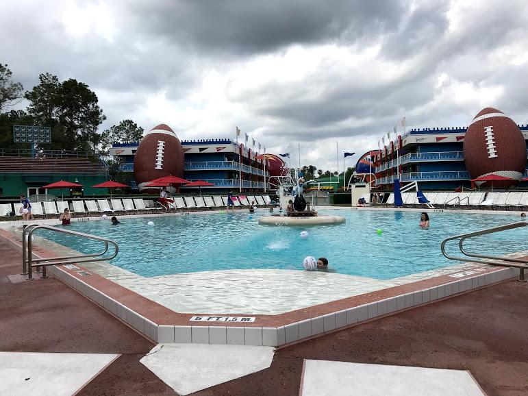 The baseball diamond pool at All-StarSports Resort.
