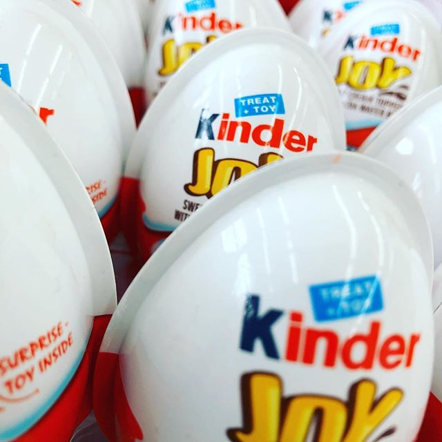 Look what we have this year 👀! Finally approved for sale in the USA, we've stocked up! #kinderjoy #kinderegg #thecandycorner #lifeisshorteatcandy