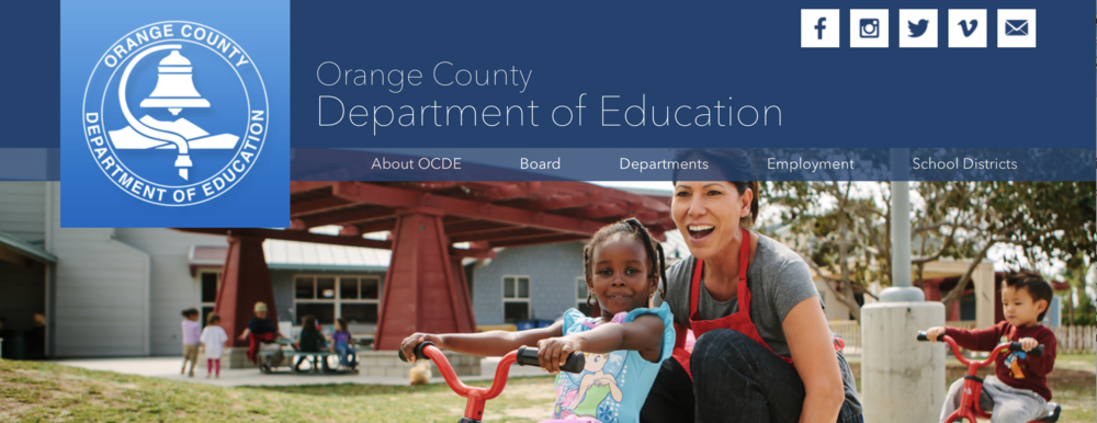 Address of the Orange County Department of Education is: 200 Kalmus Drive, Costa Mesa, CA 92626