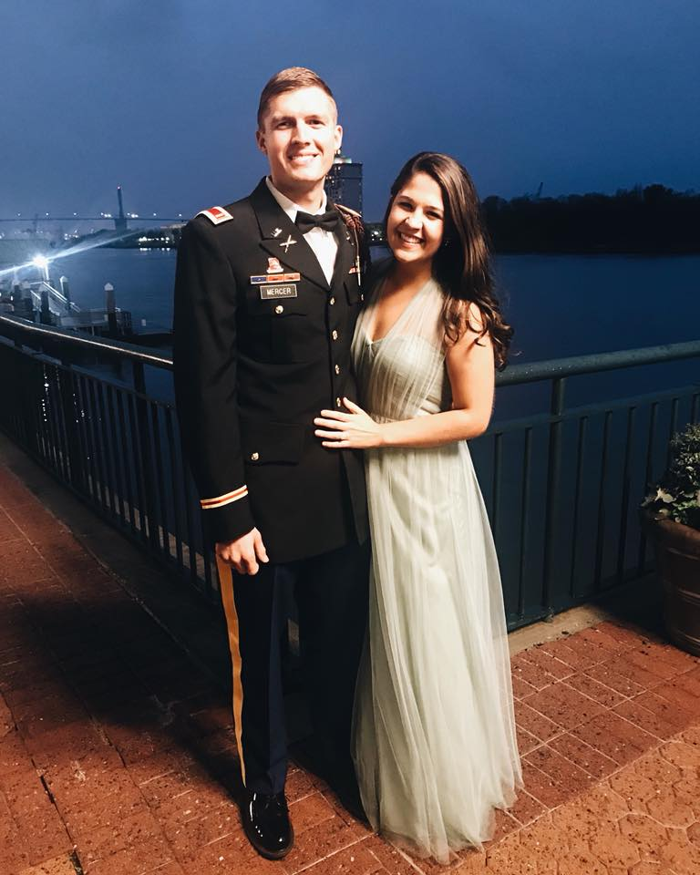 Mary Scott and Daniel at the military ball