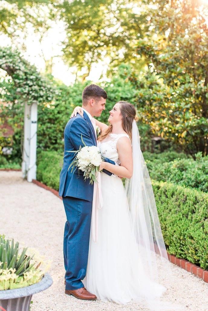 Rachel and Thomas on their wedding day.