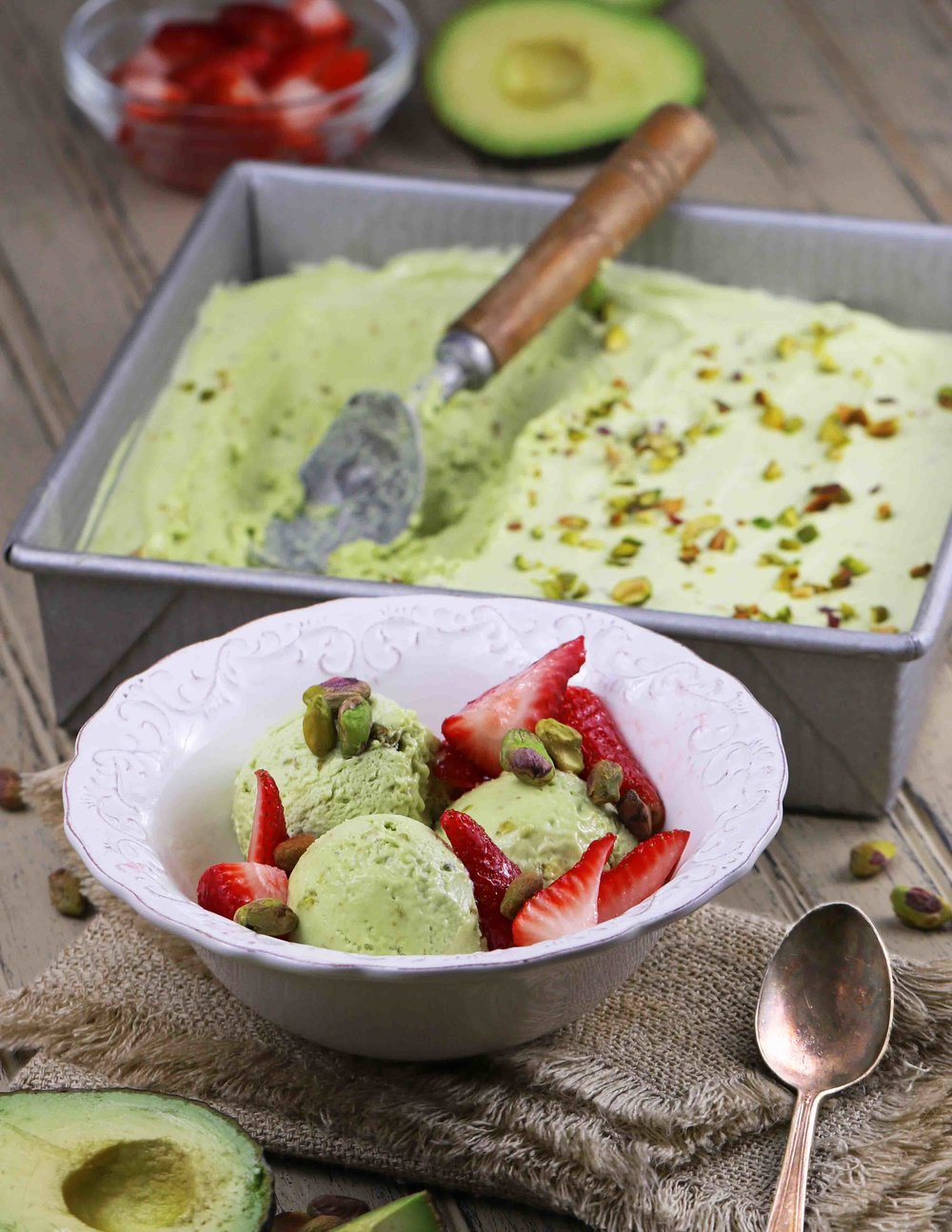 AVOCADO & PISTACHIO ICE CREAM