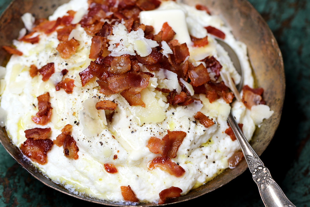 BEST LOW CARB KETO LOADED CAULIFLOWER MASH WITH BACON AND PARMESAN CHEESE.jpg