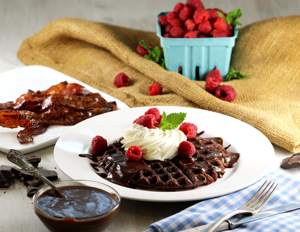 KETO CHOCOLATE ALMOND WAFFLES