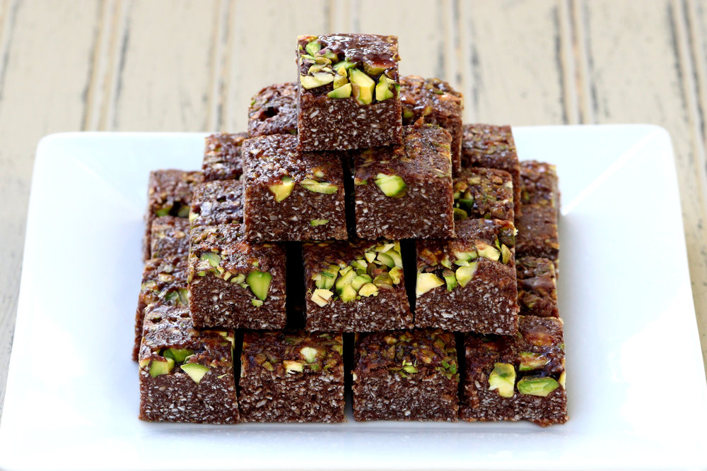 BEST LOW CARB KETO  CHOCOLATE AND PISTACHIO COCONUT SQUARES SWEET TREAT RECIPE.jpg