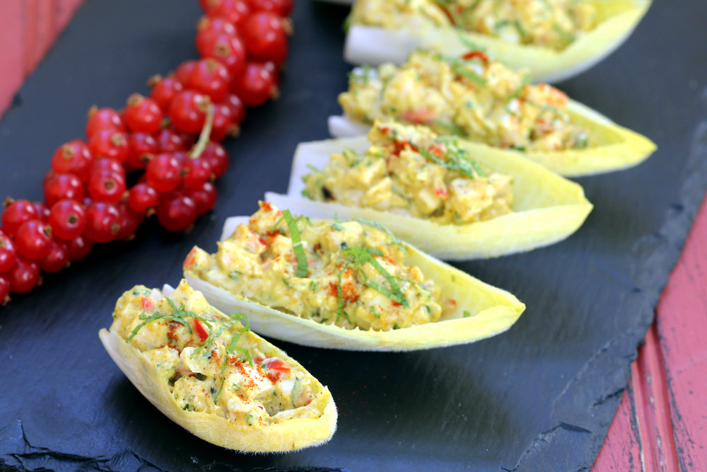 LOW CARB KETO CURRIED CHICKEN SALAD IN ENDIVE CANAPE APPETIZER RECIPE.jpg