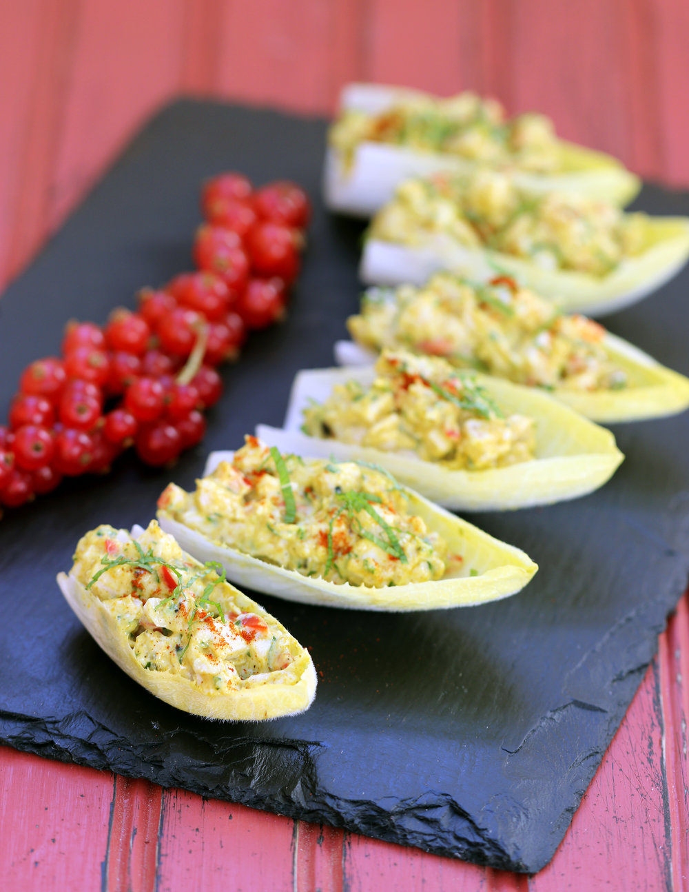 CURRIED CHICKEN SALAD CANAPES