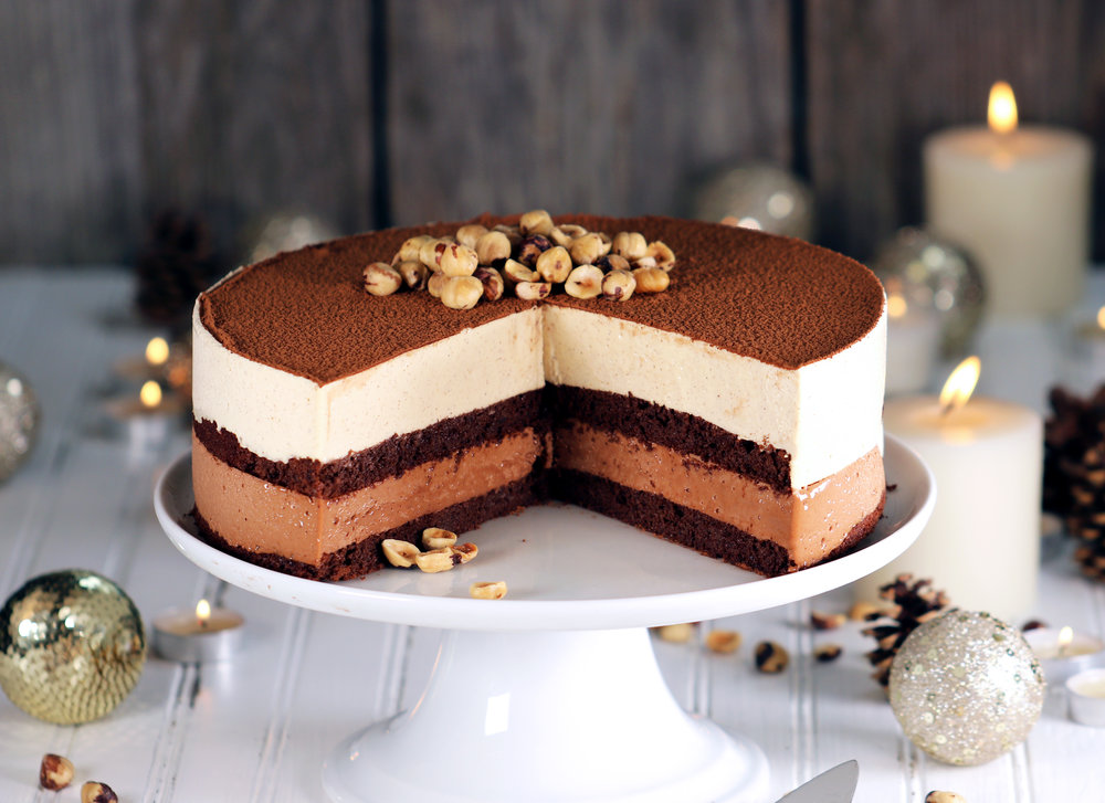 BEST EVER LOW CARB KETO HAZELNUT AND CHOCOLATE TORTE NUTELLA MOUSSE CAKE RECIPE