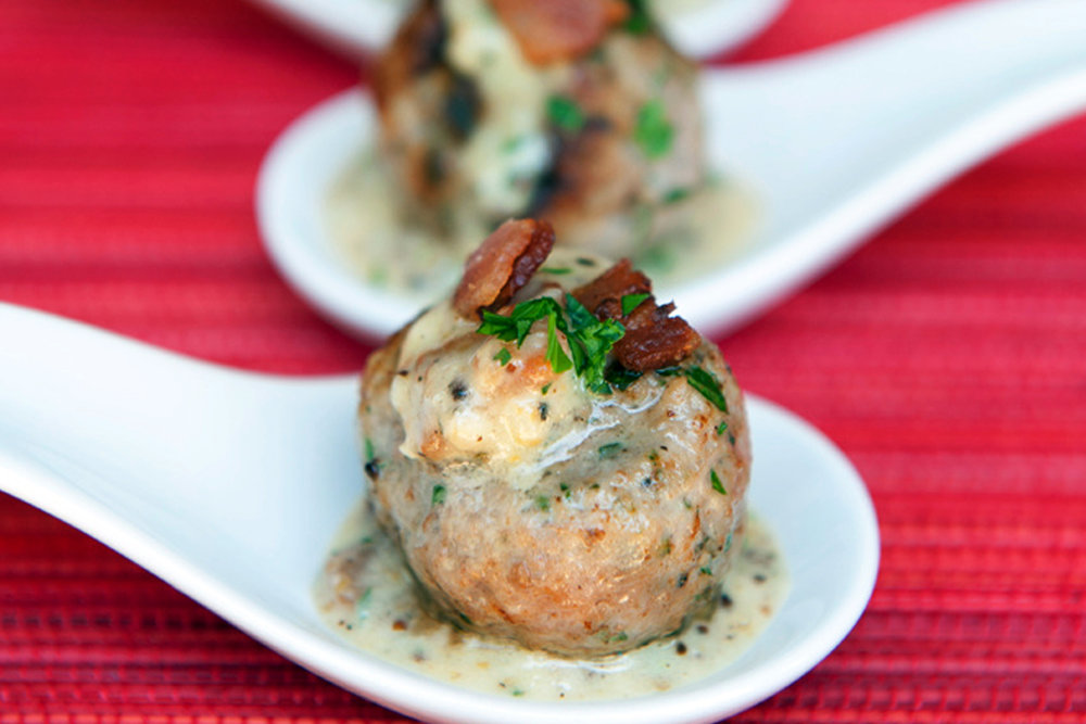 BEST LOW CARB KETO  TURKEY MEATBALL WITH BACON AND CREAMY SAUCE APPETIZER RECIPE.jpg