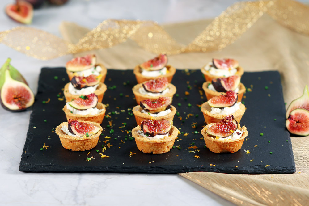 FIG & GOAT CHEESE TARTLETS