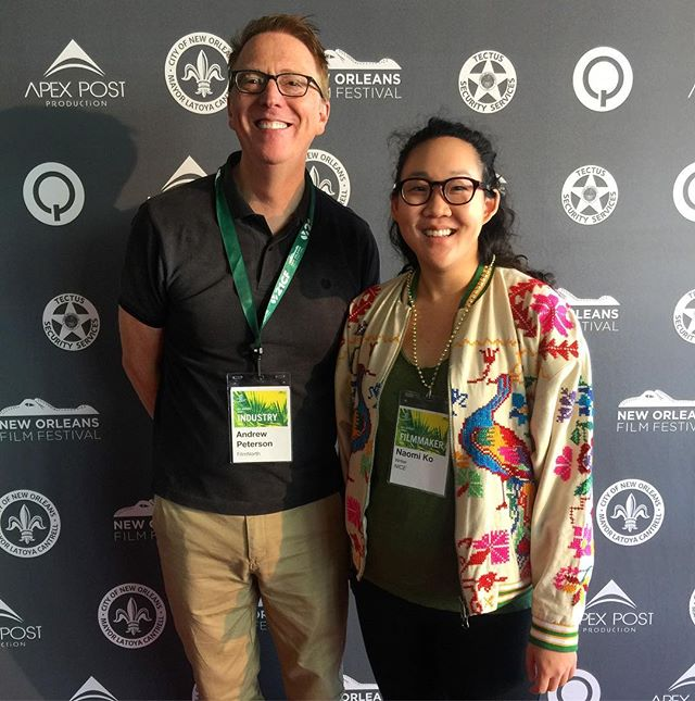 Creator Naomi Ko and Executive Director of FilmNorth Andrew Peterson repping Minnesota at #NOFF2018! #NiceInNola  @myfilmnorth