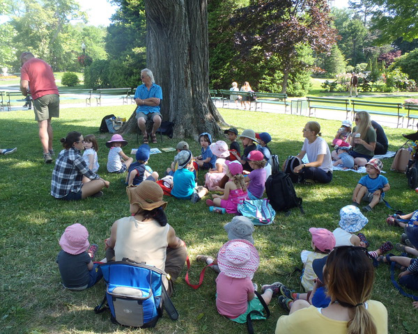 Story Time for kids takes place twice a week (when the Gardens are open for the season) compliments of the Uncommon grounds Cafe and Woozles Books.  For dates and times check our  Events Calendar .