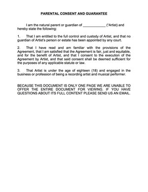 parental consent law for minors