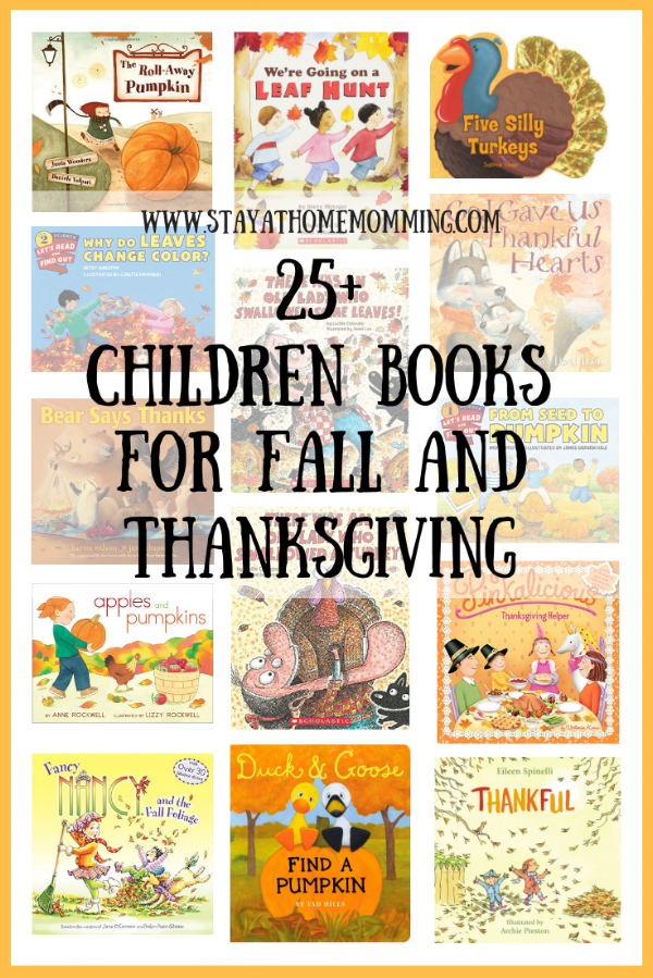 25+ Children Books for Fall and Thanksgiving