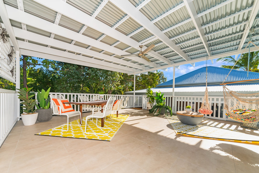 36m2 outdoor entertaining area situated above newly constructed 2 car garage.