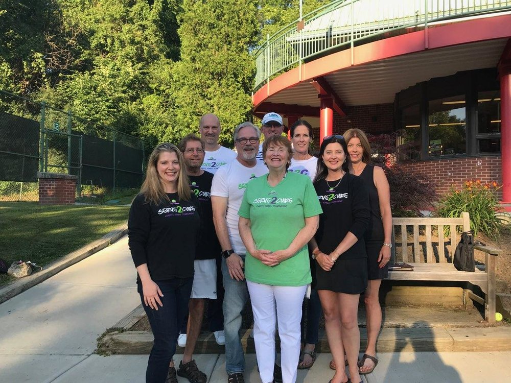 Dedicated tennis players with a passion for fighting cancer. -