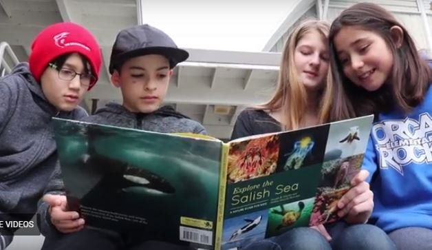Tidwell's students with book.JPG
