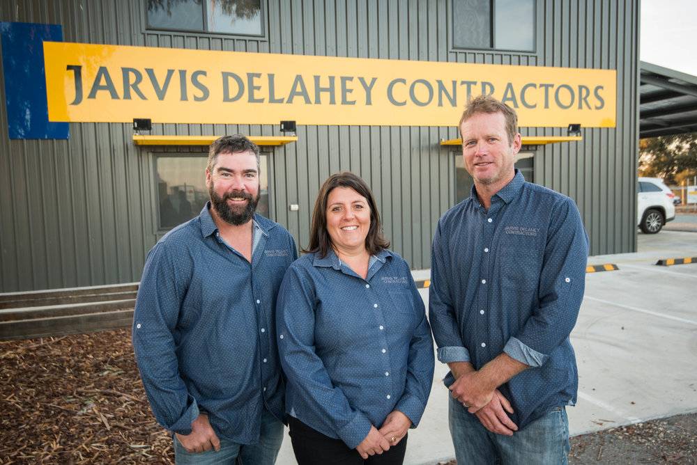 From left: Nathan Delahey Managing Director, Leisa Delahey Office Manager, Richard Jarvis Managing Director